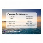 Replacement Pleasure Craft Operator Card